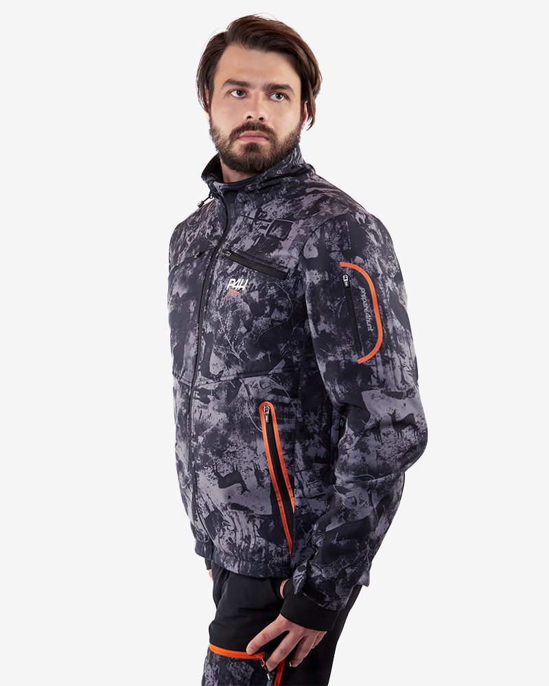 p4h supreme jacket black camo, herr