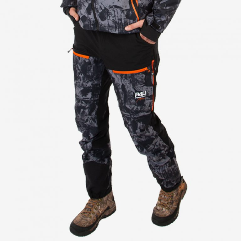 Jaktbyxa stretch, power pants black camo, herr