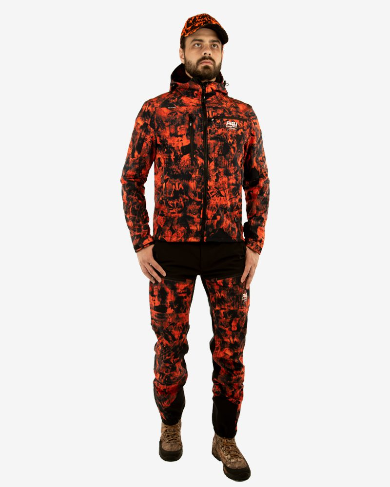 Jaktbyxa Stretch, power pants, blaze camo