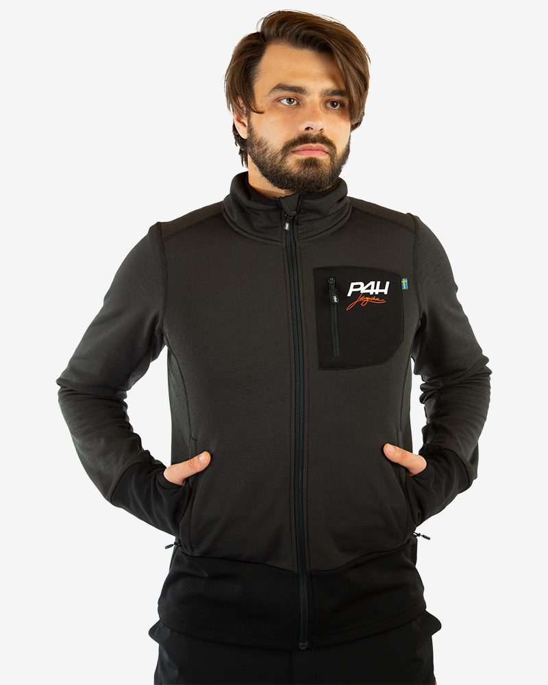 p4h superfleece jacket black comb, herr