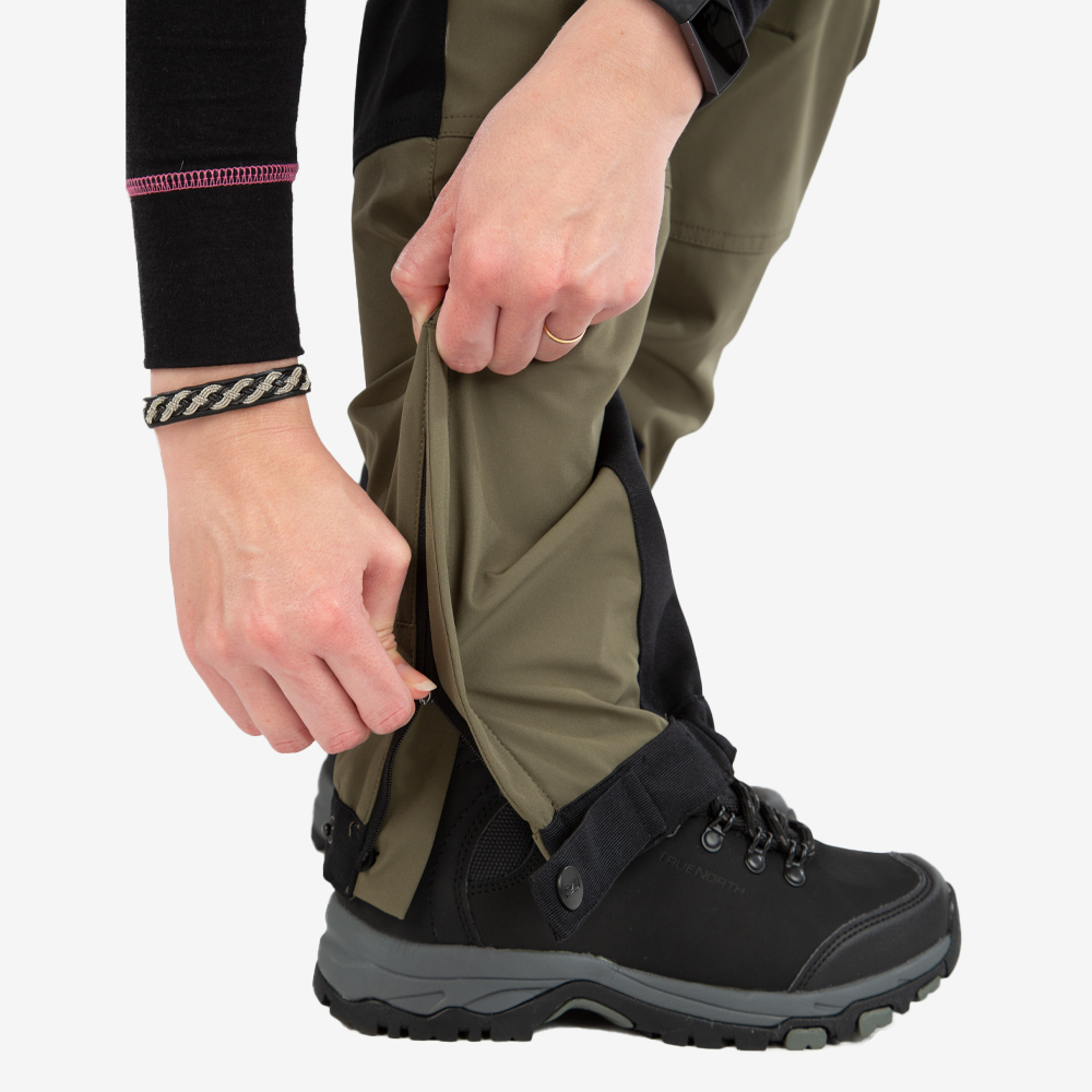 Friluftsbyxa stretch, power pants green, dam