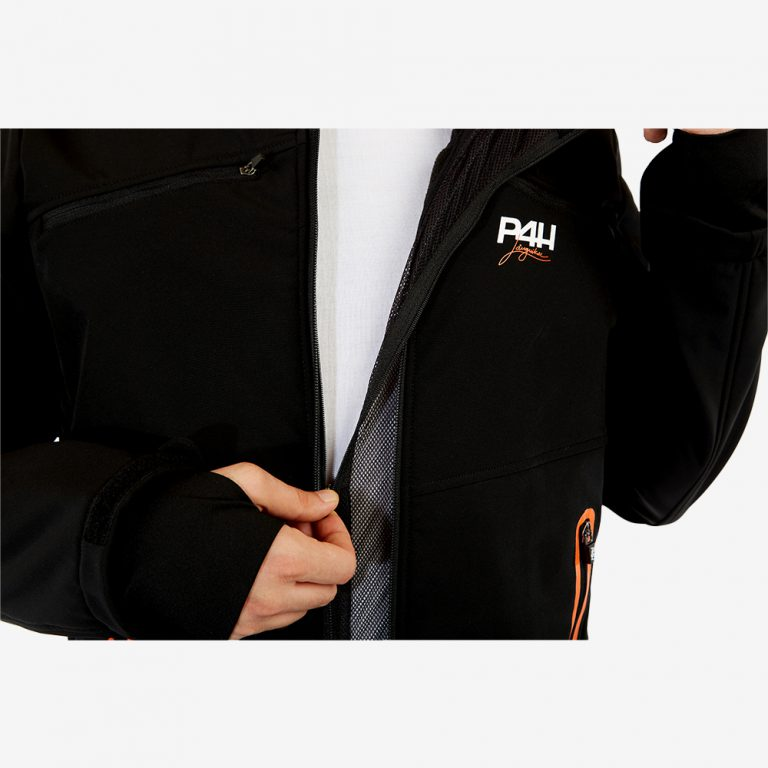 p4h supreme jacket black, herr