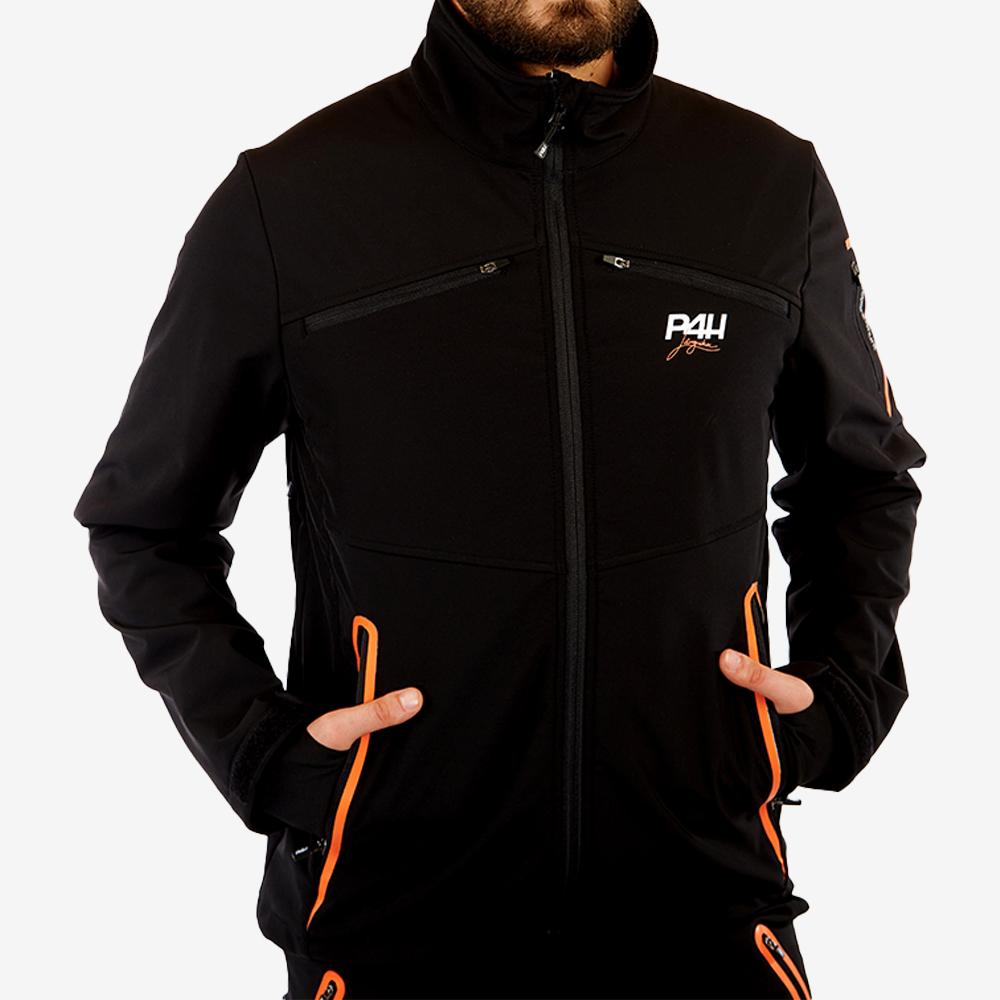 p4h supreme jacket black, herr
