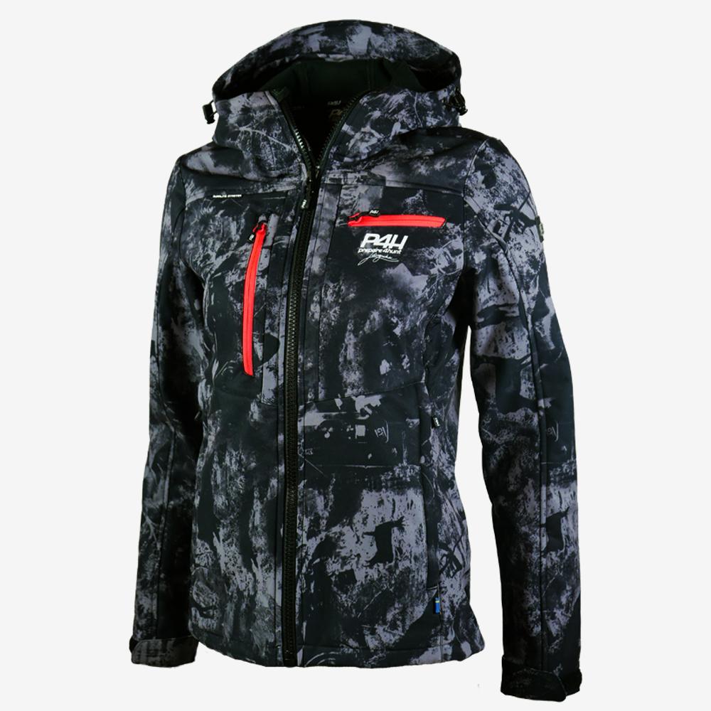 p4h extreme hybrid jacket black camo, dam