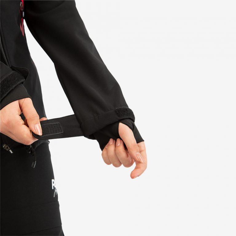 Friluftsjacka supreme jacket black/pink, dam