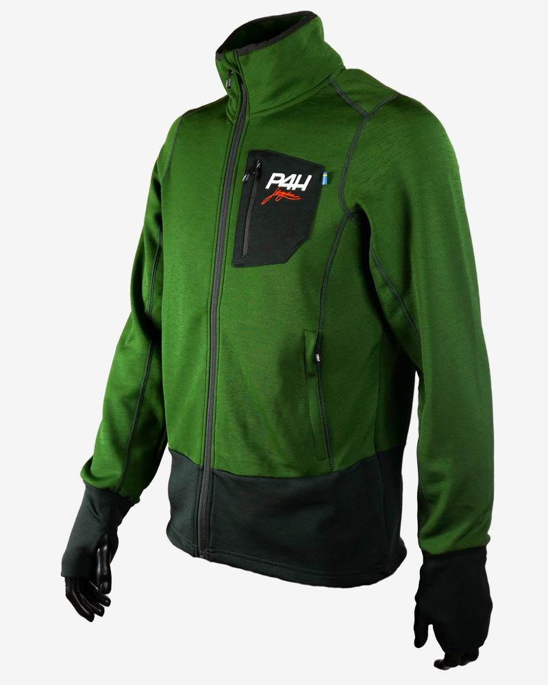 p4h superfleece jacket green comb, herr