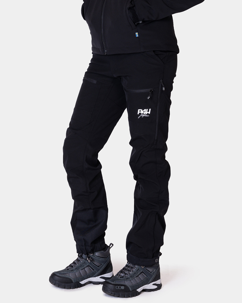 Friluftsbyxa stretch, power pants black, dam