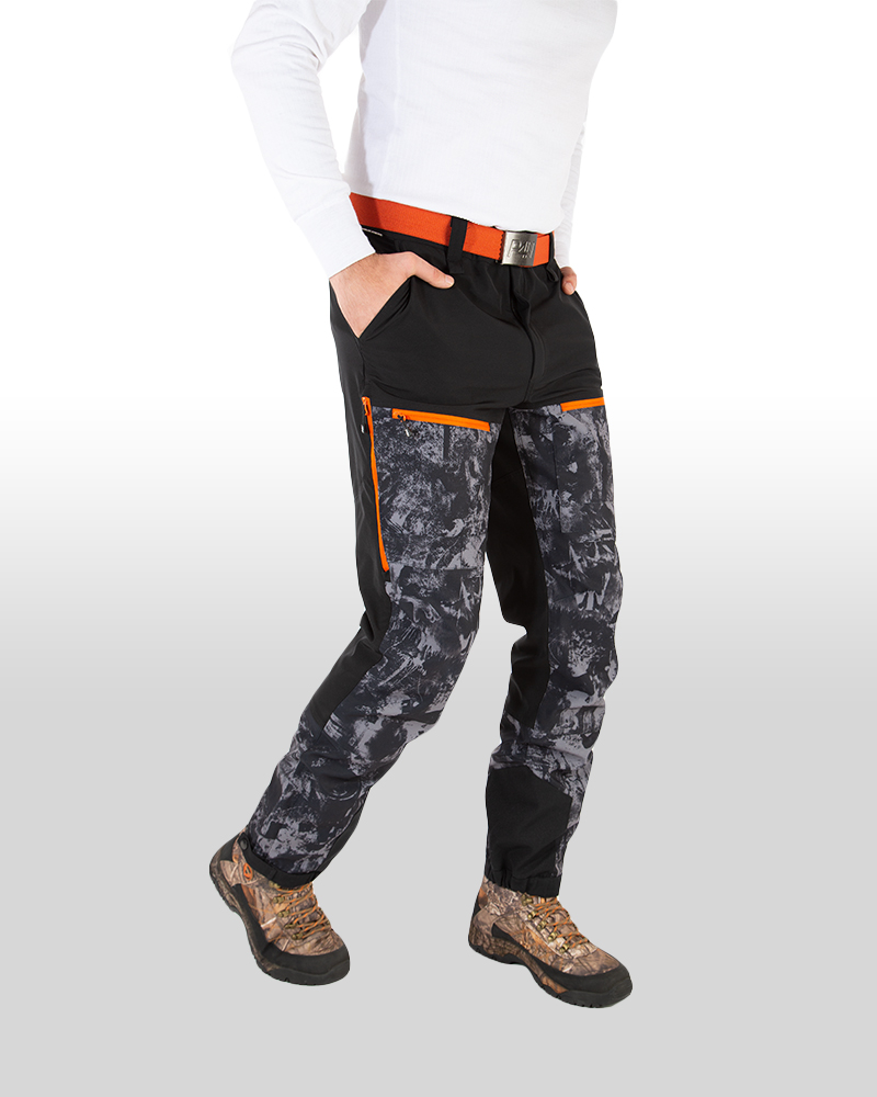 p4h power pants black camo, herr