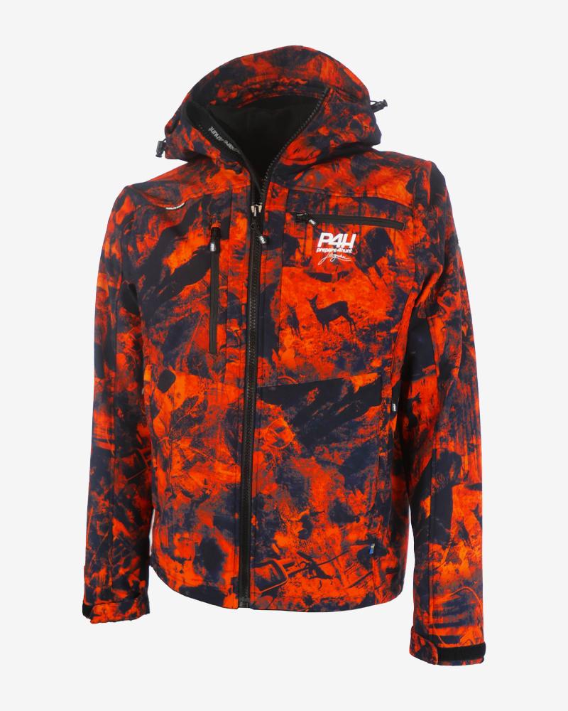 Jaktjacka Softshell, extreme hybrid camo jacket, herr