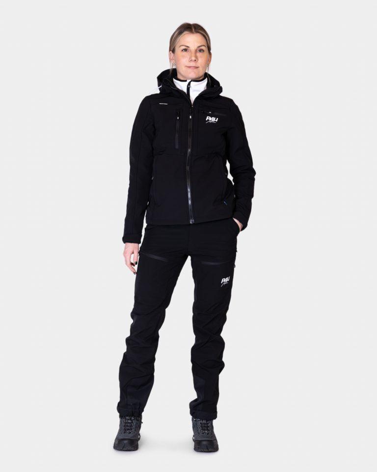 Friluftsbyxa stretch, power pants black, dam