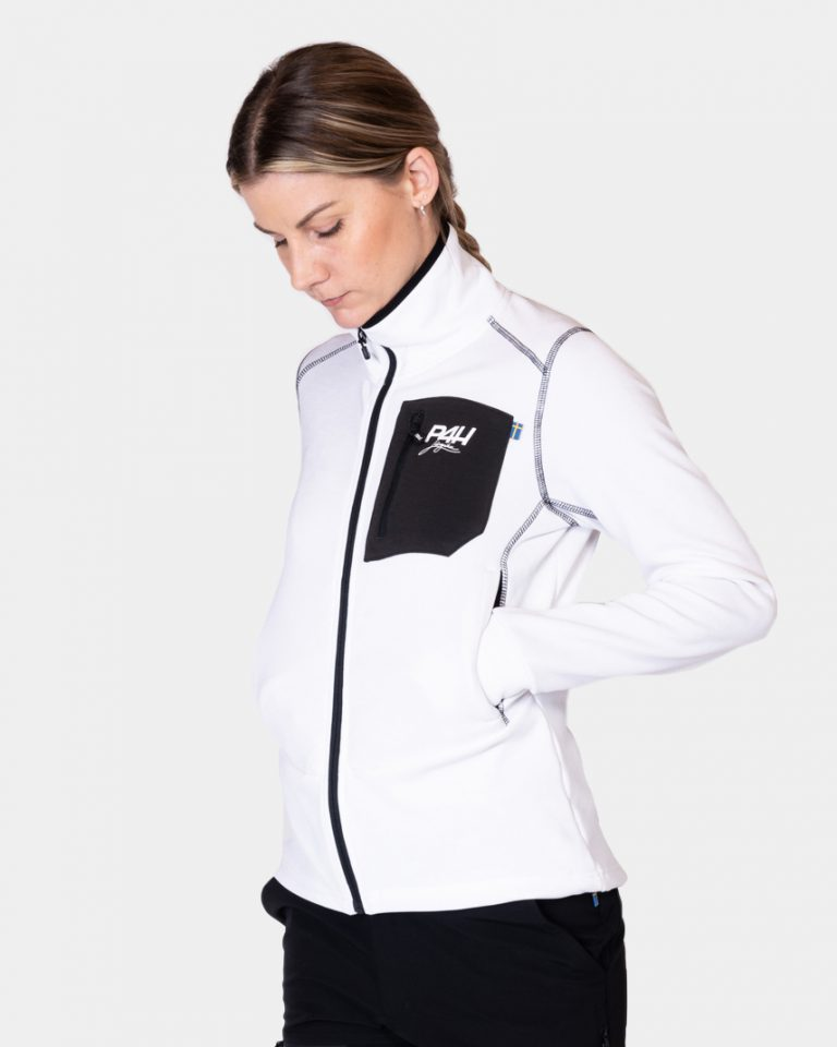 P4H Superfleece Jacket White, Dam