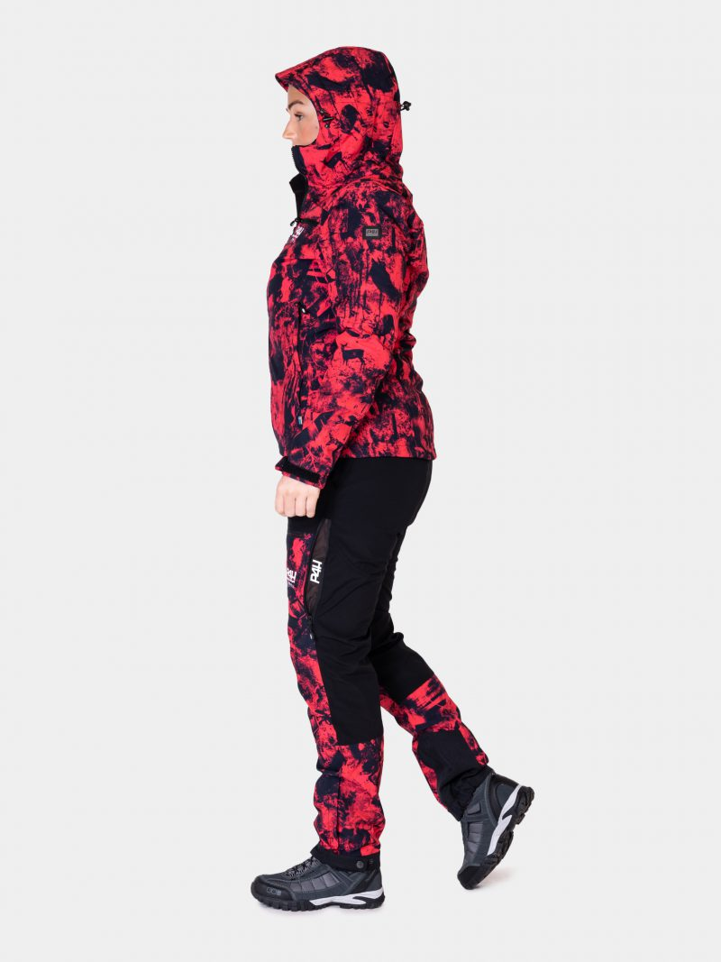Jaktjacka Softshell, extreme hybrid jacket pink, dam