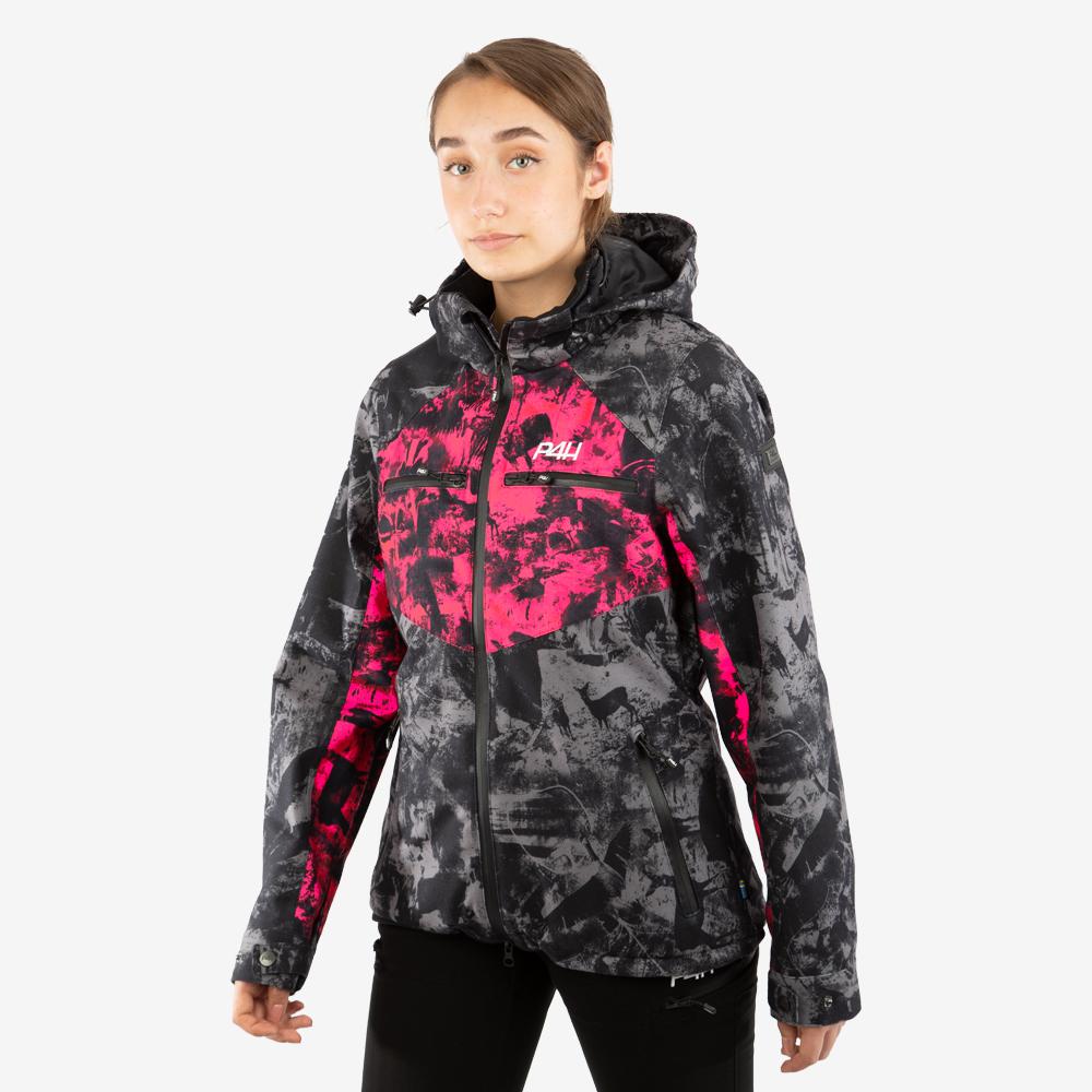 p4h hunters elite jacket, black/pink camo