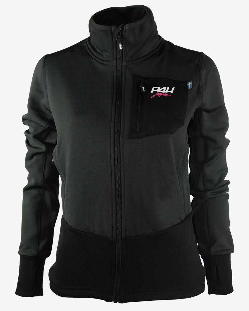 p4h powerfleece jacket black comb, dam