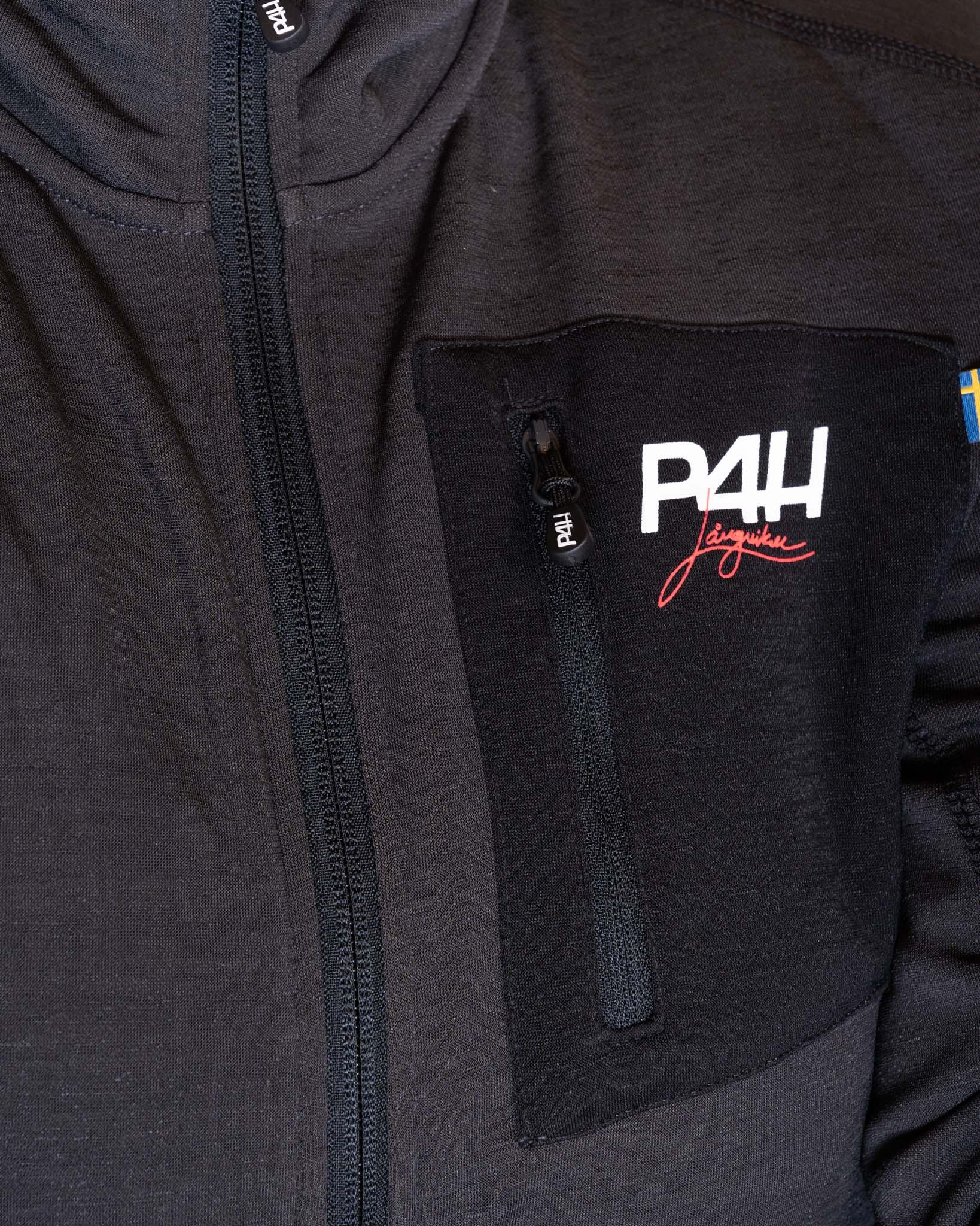 P4H Powerfleece Jacket Black Comb, Dam