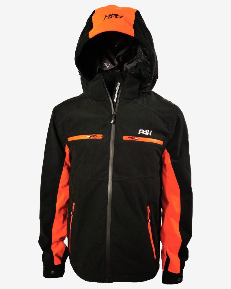 p4h hunters elite jacket, black/orange