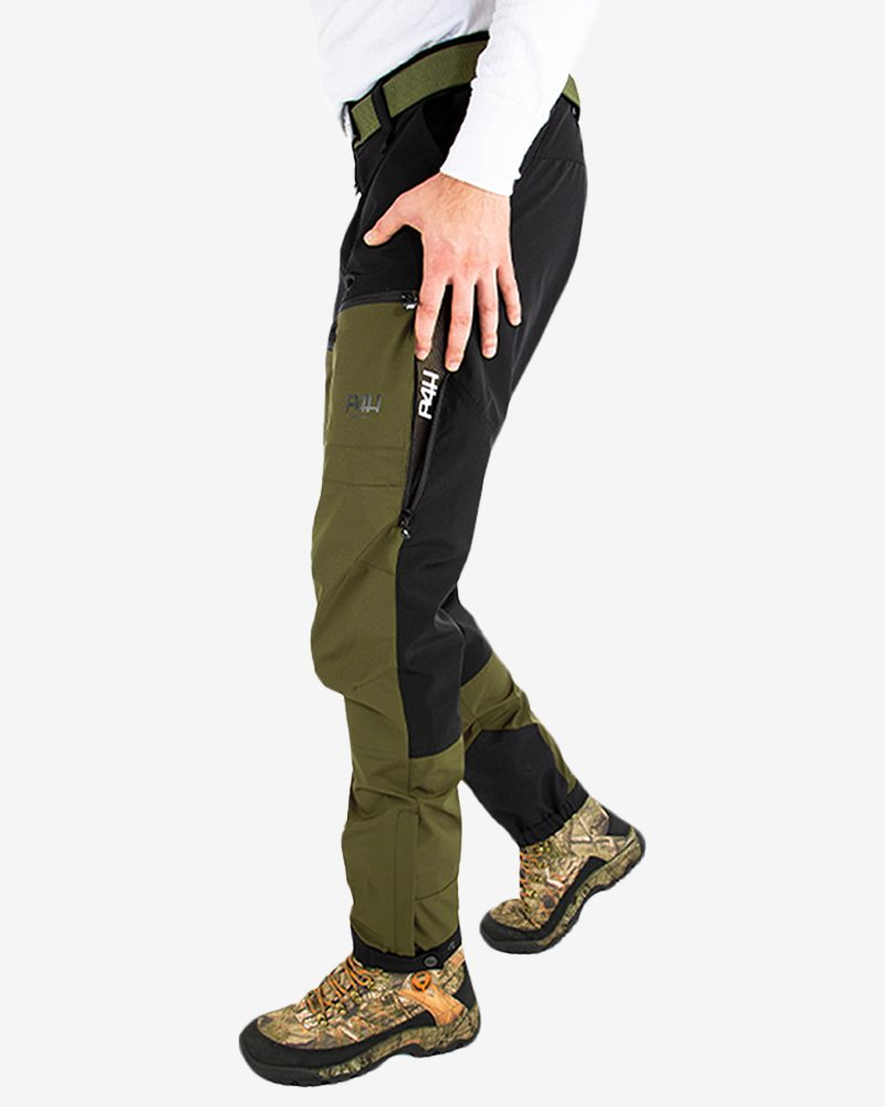 p4h power pants light green, herr