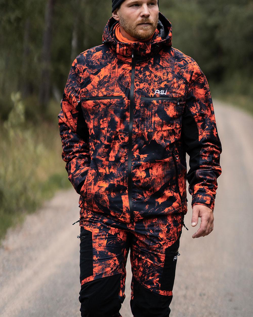 Jaktställ camouflage Herr, Hunters Elite - Orange Camo