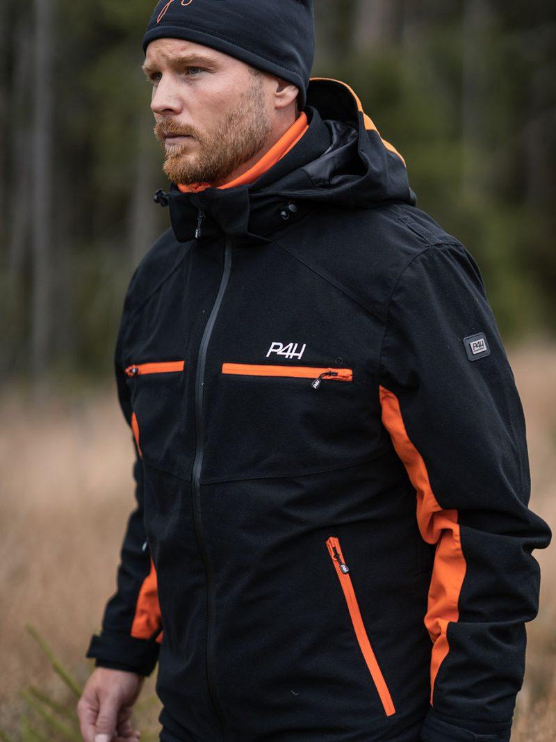 Allvädersjacka Elite Herr - Black/Orange