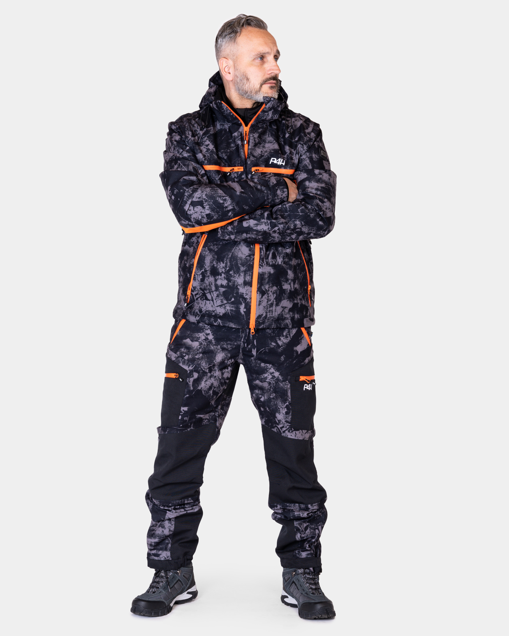 P4H Hunters Elite Jaktställ Black Camo, Herr
