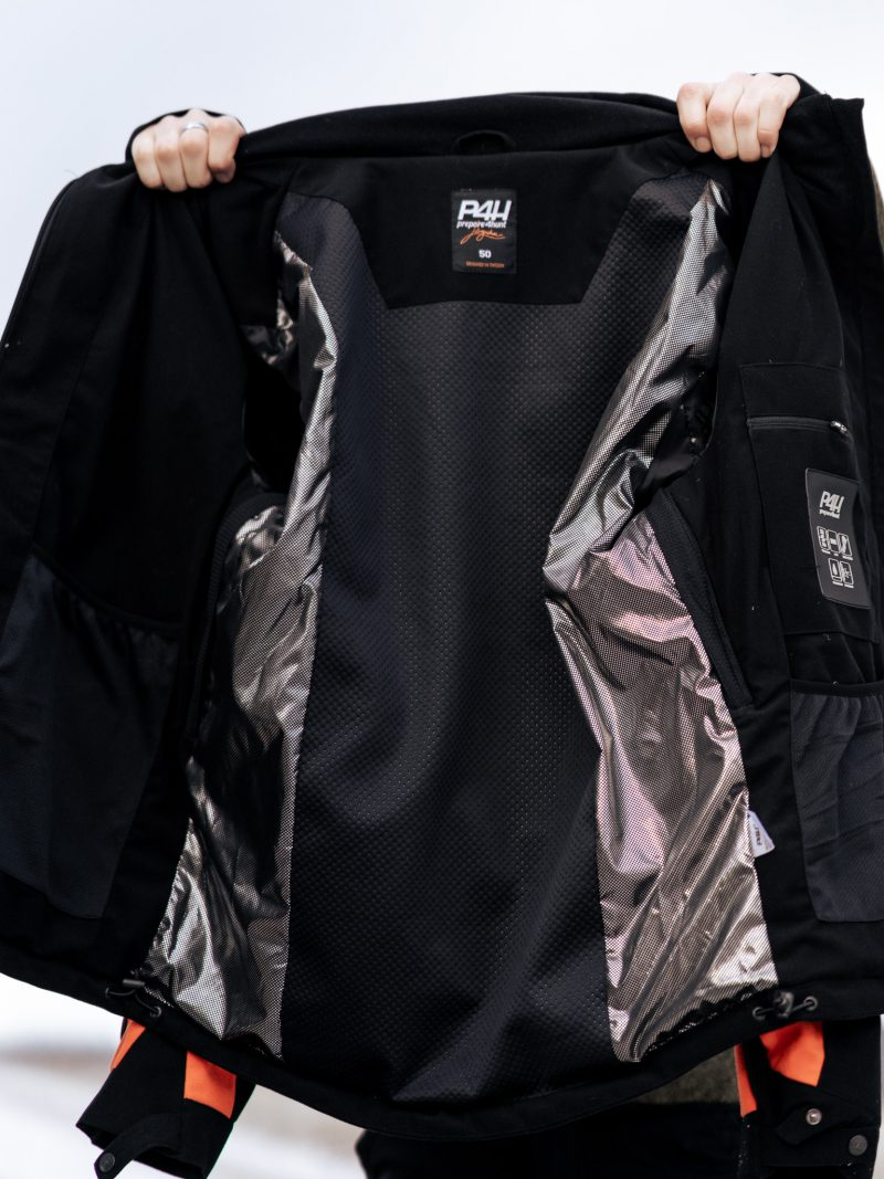 P4H Hunters Elite Jacket, Black/Orange
