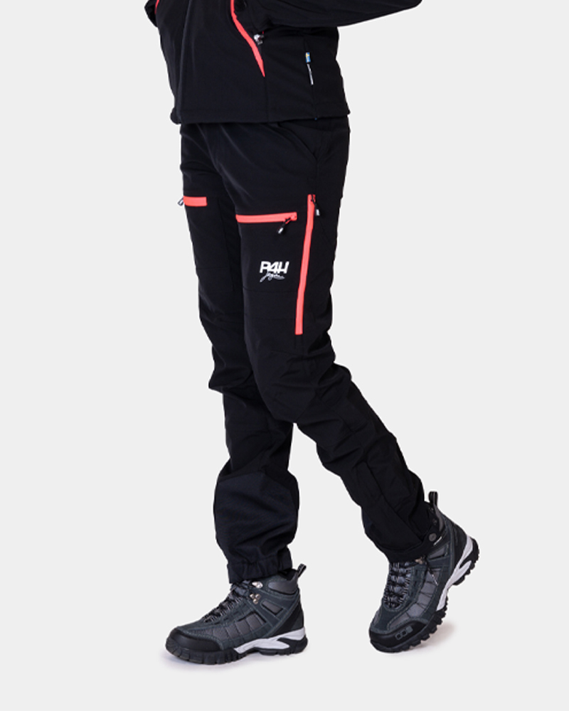 Friluftsbyxa stretch, power pants black / pink