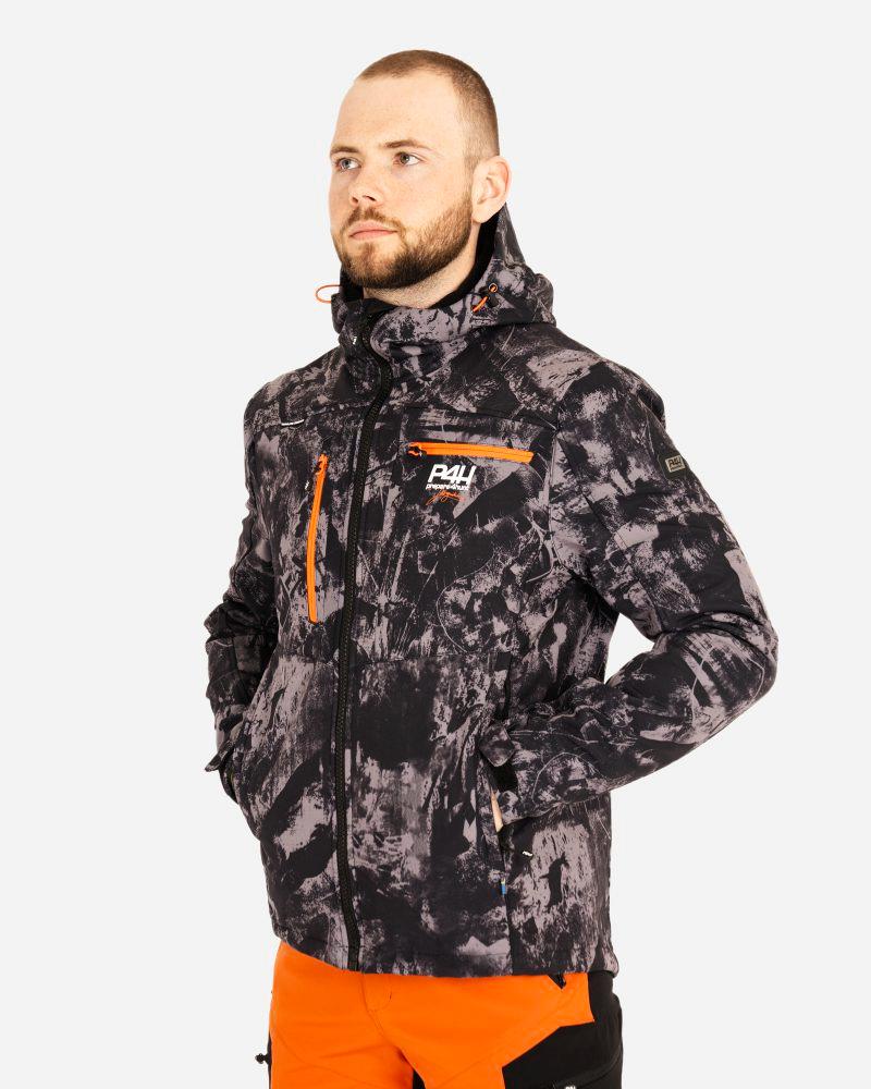 p4h extreme hybrid jacket black camo, herr