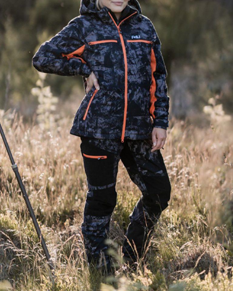 Jaktbyxor Camouflage Dam, Hunters Elite - Black Camo