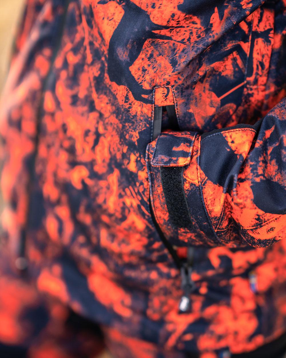 Jaktjacka Camouflage Dam, Hunters Elite - Orange Camo