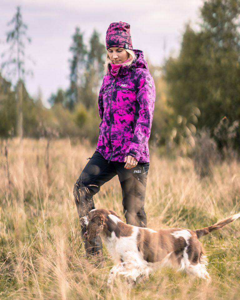 Jaktställ dam, hunters elite pink camo-black